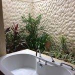Semi outdoor bathroom in deluxe room