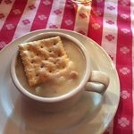 Cup of clam chowder - Good!
