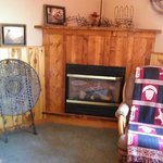 Wild West Room fireplace