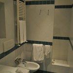 Master Bathroom with shower around the corner