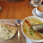 Yummy seafood chowder!
