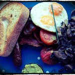 """Famished...why not try """"A Big Breakfast""""....satisfying. Skim photo"""
