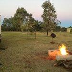 warm camp fire