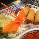 For piece vegetable Eggrolls. They also have spring rolls which are not fried, but these that ar