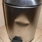the bathroom dustbin