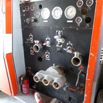 Fire appliance pump panel