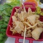 Beautiful crispy fried squid