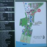 map of Levante beach resort