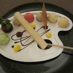 Palette du peintre,glaces et sorbets