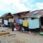 The houses from the  Mabul Island  and Maiga Island