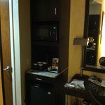 Amenities corner with Micro/refrig and storage