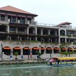 View of hotel from river