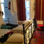 Our lovely room.  Although it was facing the street it was very quiet.  The bed was so comfortab