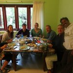 Delicious Kerala breakfast served by Suresh and his wife