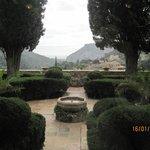 Вид с патио монастыря.