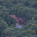 Hotel pool from atop Sigiriya