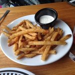 Garlic parmesian fries