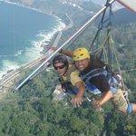 Hand gliding over Rio de Janeiro