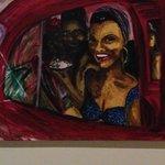 peinture réalisé par Henri inspiré par son voyage à Cuba