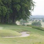 Übungsgreen des Golfplatzes