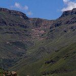 The serpentine road up Sani Pass