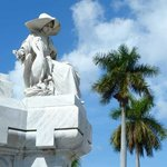 Colon Cemetery - the pelican is a symbol of charity.