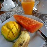 En del av frukosten