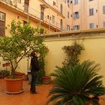 Courtyard at the Hotel Taormina