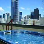 Rooftop Spa with City View