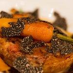 Chapon, foie gras, truffe