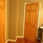 upstairs shared bathroom - entrance to Garden room door locked on the left.