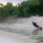 The Brazos River is a water skier's paradise.
