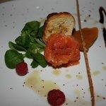 rosa di salmone marinato