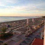 View from the balcony towards Benaldadena Harbour