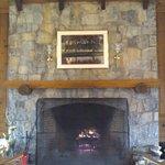 Fireplace at main lodge