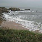 La côte sauvage toute proche