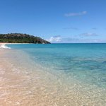 Crystal clear caribbean blue water, silky soft sand!