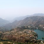 View of Bhimtal - Satvik in sight overlooking the mountains on the left