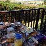 Breakfast on the deck!
