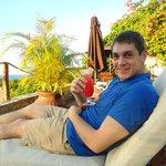 lounging around the resort