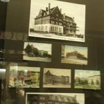 Old photos of the hotel's early day in the lobby