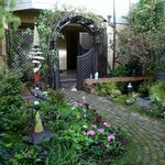 Annie's garden and entrance