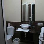 Quite spacious bathroom in room 209