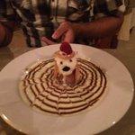 Fancy Dessert at Las Palomas