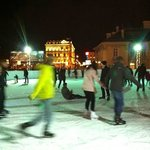 Ice rink in main town square