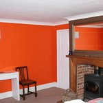Wood Burner in Orange Room