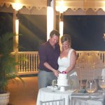 our wedding reception on the Reef terrace