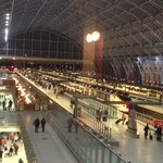 View of Eurostar at St Pancras from the hotel