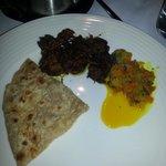 Dry meat curry & pratha