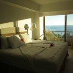 Notre chambre... vue sur la mer
